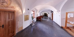 Dominik�nsk� kl�ter - vstup do s�lu - Virtual Tour/Panorama
