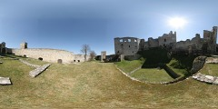 Hrad Rab� - severn� n�dvo�� - Virtual Tour/Panorama