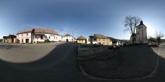 Velhartice - náměstí s kostelem sv.Máří Magdaleny - Virtual Tour/Panorama