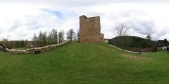 Hrad Velhartice - nádvoří - severní pohled - Virtual Tour/Panorama