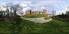 Hrad Velhartice - nádvoří - západní pohled - Virtual Tour/Panorama