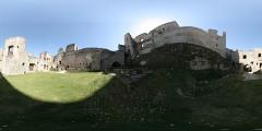 Hrad Rabí - jižní nádvoří - Virtual Tour/Panorama
