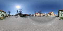 Obec Rabí - náměstí - Virtual Tour/Panorama