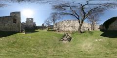 Hrad Rabí - severní opevnění - Virtual Tour/Panorama