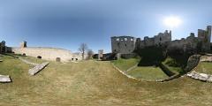 Hrad Rabí - severní nádvoří - Virtual Tour/Panorama