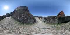 Hrad Rabí - vstupní brána - Virtual Tour/Panorama